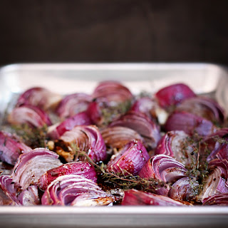 Roasted Red Onions with Thyme Recipe
