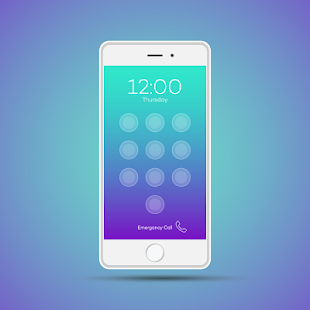 iLock Screen IPHONE style - náhled