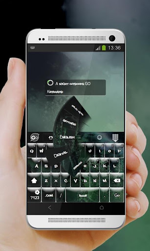 玩個人化App|夜の屋外で GO Keyboard免費|APP試玩