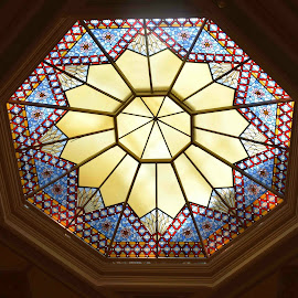 Stained Glass Ceiling by Ada Irizarry-Montalvo - Artistic Objects Glass