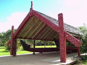 Photo: A waka in Waitangi, 34m long and very nice work!