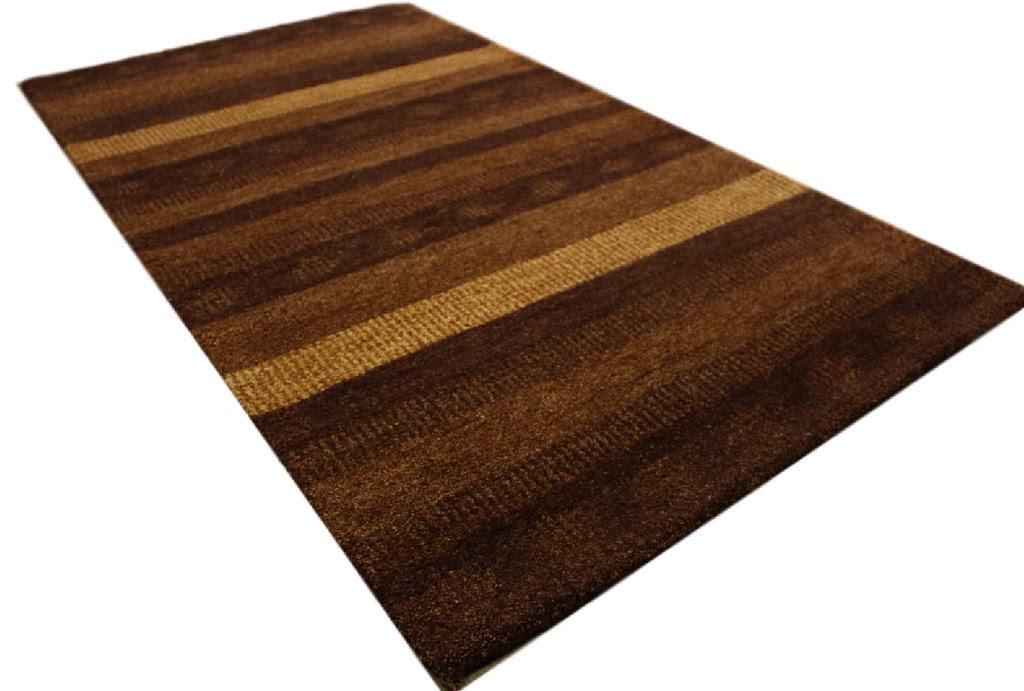 dywan gabbeh brązowy 90x160cm excellent wełna argentyńska