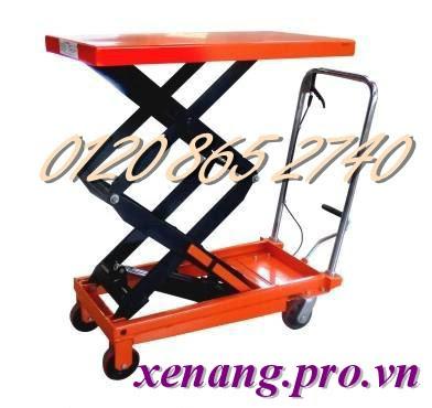 Xe nâng mặt bàn 350kg cao 1.3m Model XNB350