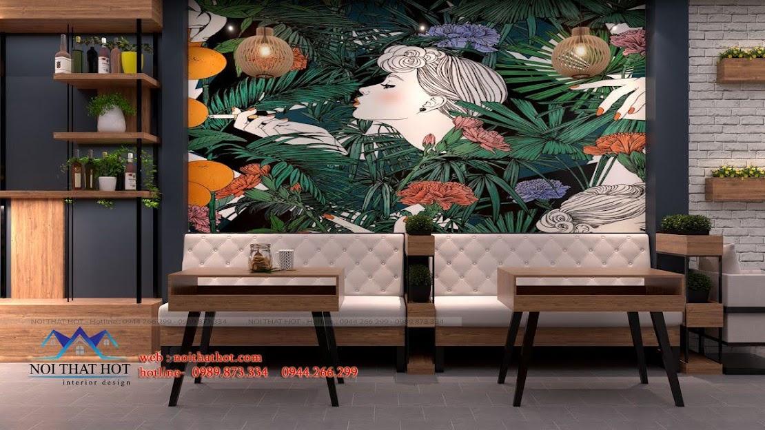 thiết kế quán cafe 40m2 3