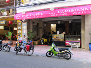Photo: Year 2 Day 18 -  Outside the Ha Van Hotel in Nha Trang, Ready To Leave