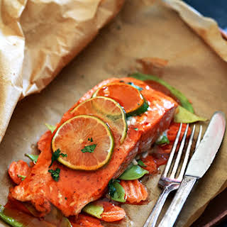 Thai Sweet Chili Glazed Salmon in Parchment.