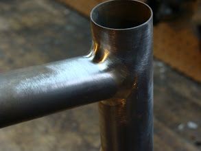 Photo: Simple fillet top tube to head tube joint.