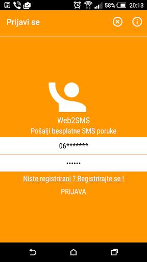 BH Telecom Web2SMS