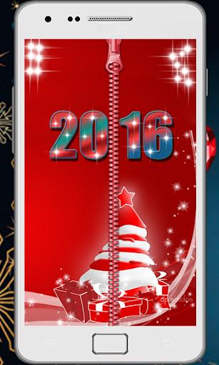 Zipper Lock Screen New Year