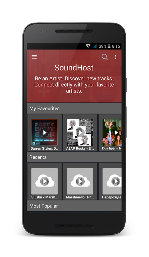 SoundHost- screenshot