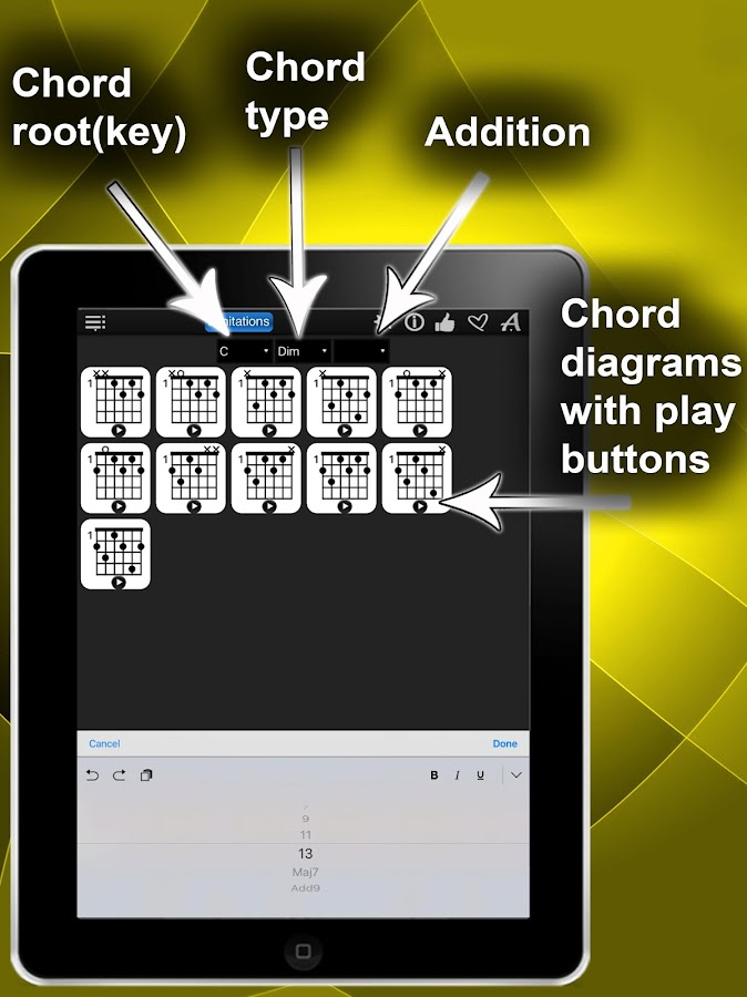Chords Compass Lite- screenshot