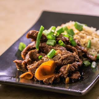 Slow Cooker Porter Mongolian Beef.