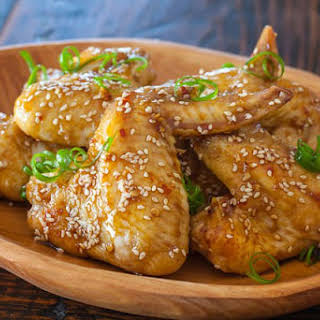Sticky Asian Chicken Wings.