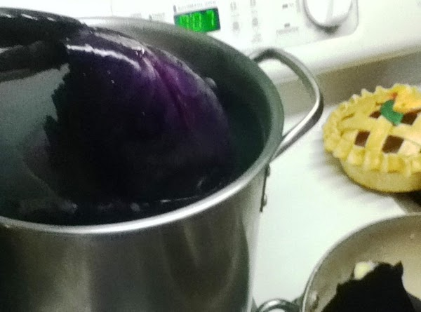 In large kettle, place head of cabbage in boiling water for 10 minutes or...