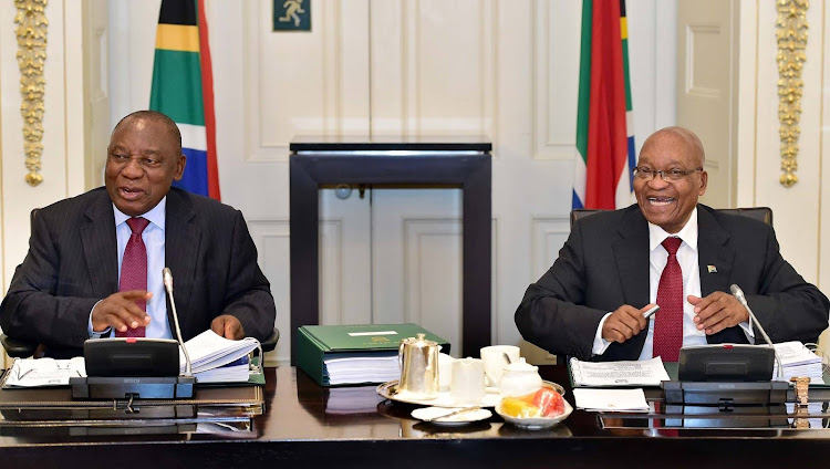 Deputy President Cyril Ramaphosa and President Jacob Zuma. File Photo.