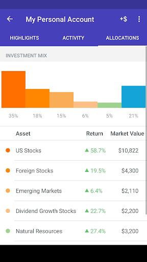 Wealthfront screenshot 2
