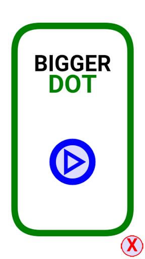 bigger dot