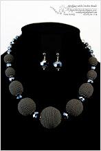 Photo: Necklace with Crocheted Beads - Прикраса з в'язаними намистинами