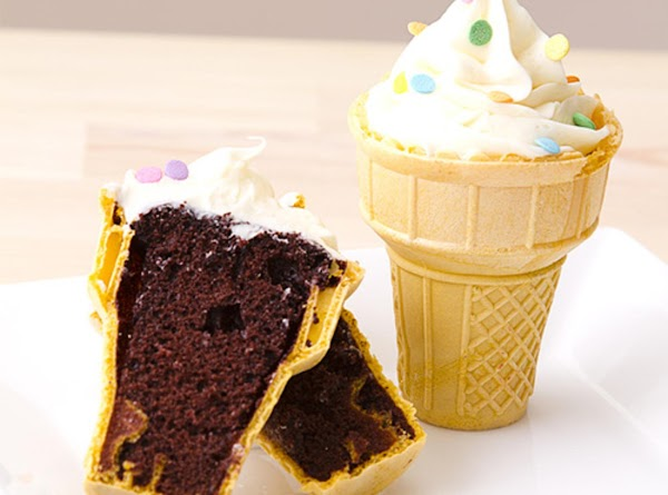 Bake cupcakes directly in ice cream cones, so much more fun & easier for kids...