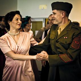 by Jasmine Graham - People Couples ( soldier, vintage, dress, retro, dance )
