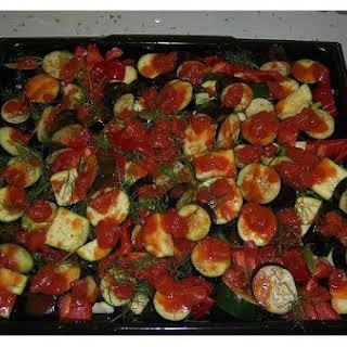 Aubergine, Tomato and Fennel.