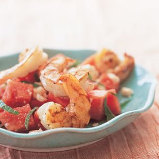 Watermelon and Feta Salad with Grilled Shrimp