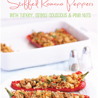 Turkey and Couscous Stuffed Romano Peppers.