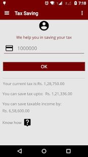 Tax Saving + ITR + NPS screenshot