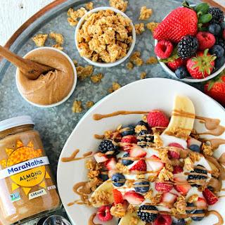 Almond Butter Breakfast Banana Split Recipe