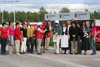 Photo: Suomenhevosten Veeruska-ajon voittaja 3.8.2008 Tuli-Vireä/Markku Nummi