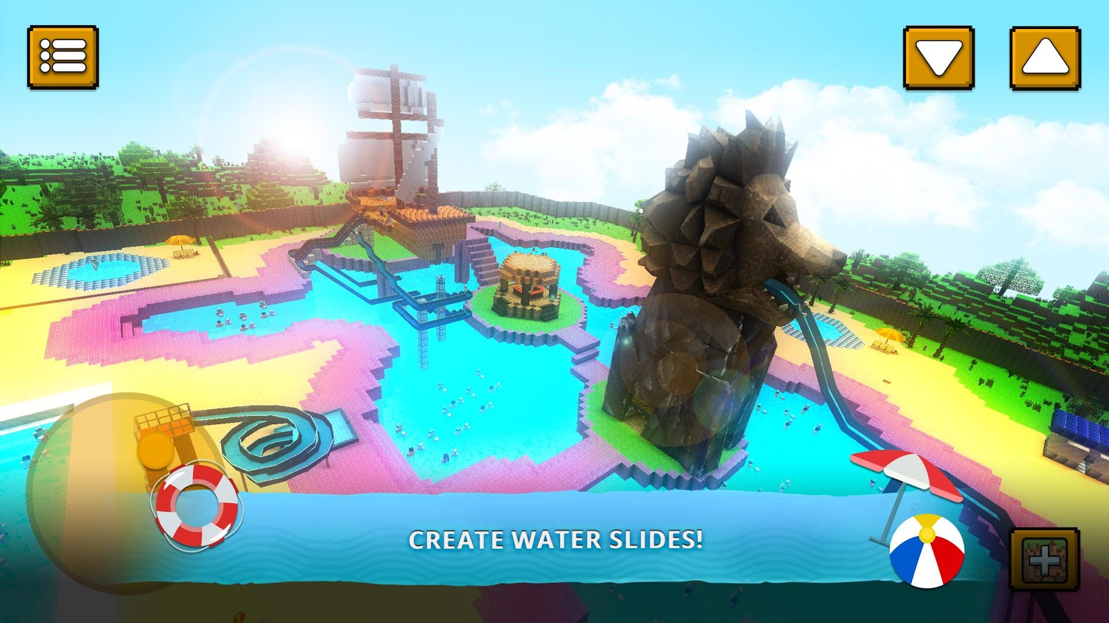 Water Park Craft: Waterslide Building Adventure 3D- screenshot