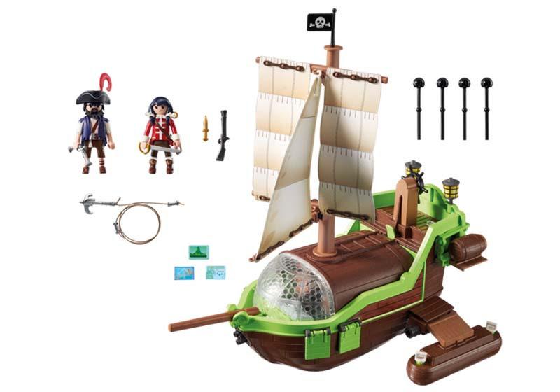 Contenido de Playmobil® 9000 Barco Pirata Camaleón con Rubi