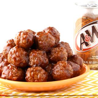 Instant Pot BBQ Meatballs Recipe {Root Beer}.