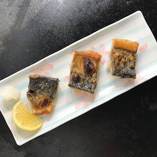 Japanese Style Broiled Mackerel with Salt (Shioyaki).