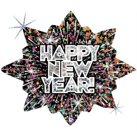 Folieballong - Bursting Happy new year
