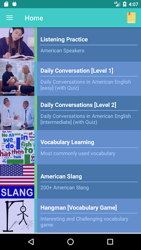 American English Speaking by e-learning (Google Play, United States