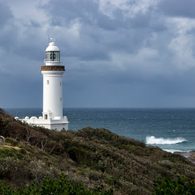 Norah Head by Mel Stratton - Buildings & Architecture Statues & Monuments ( norah head, nsw, lighthouse, stormy, australia,  )