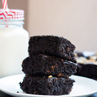 Homemade Eggless Chocolate Brownies.
