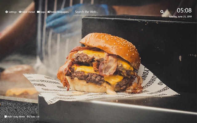 Burger Wallpaper HD New Tab Theme