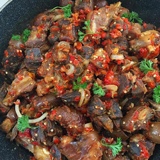 Asun (Grilled Goat Meat).