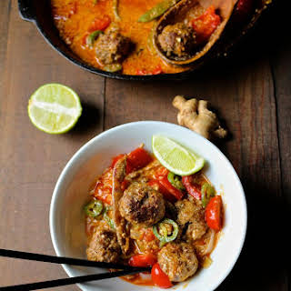 Red Thai Meatball Curry.