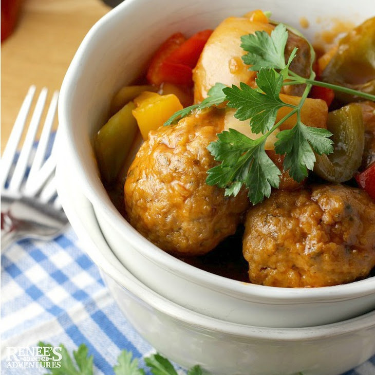 Sweet and Sour Ground Pork Meatballs