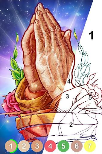 Bible Coloring - Couleur par Numéro, Jeu Biblique fond d'écran 1
