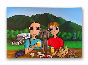 Photo: Lienzo personalizado: familia nenalizada :).  21x30 cm, pintado en acrílico y barnizado. Consultar precios