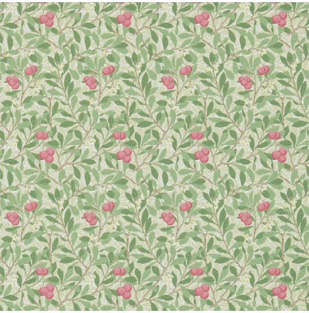 Arbutus Tapet - olive/pink