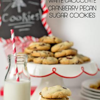 White Chocolate Cranberry Pecan Sugar Cookies.