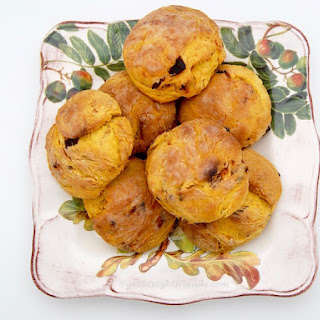 Pumpkin Biscuits with Maple Candied Bacon