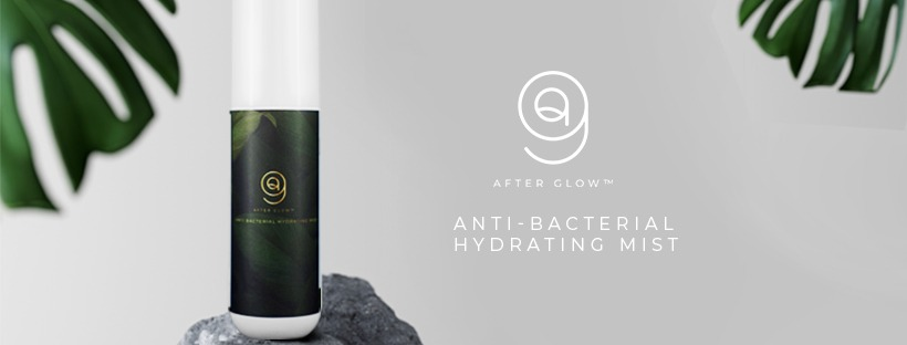 AfterGlow is Anti-Bacterial Mist that is made with 100% natural plant based ingredients A 'Pick Me Up' Facial Mist that is odourless, light and fresh with anti-bacterial components that helps to leave your skin feeling refreshed all day!
