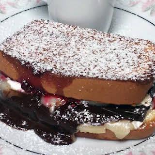 Dark Chocolate Raspberry Grilled Cheese Sandwich.