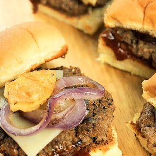 Aloha BBQ Burger Sliders